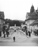 Period picture of the spa complex, Sprudelhof in Bad Nauheim. Photo: Albert Schmidt (c) Jugendstilverein Bad Nauheim e.V.