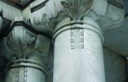 Detail of columns of the Palacio de Bellas Artes, designed by Adamo Boari in 1904